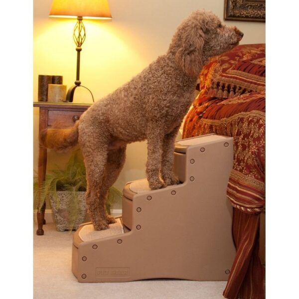 Easy Step III Extra Wide Pet Stairs - Tan PG9730XLTN