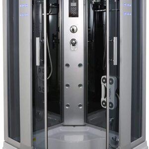"""1001NOW Corner Steam Shower Enclosure 36"""" x 36"""" with Hydro Massage Jets & Foot Massage Shower"""