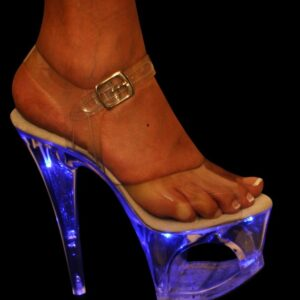 """Karo 3195 Zoom Clear with Blue Lights 7"""" inch heels"""