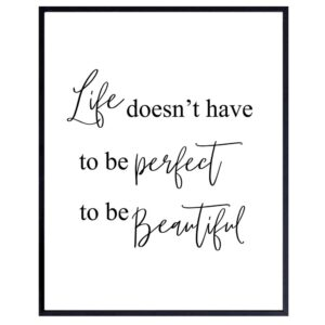 Beautiful Life - Unframed Wall Art Print - Typography - Makes a Great Gift - Modern Home Decor - Motivational and Inspirational - Ready to Frame (8x10) Photo
