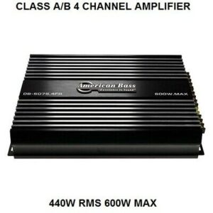 American Bass Class A/B 4 Channel Amplifier 440W RMS 600W MAX DB50754FR NEW Amp