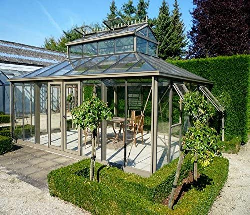 Exaco Trading Company Cathedral Victorian Greenhouse with Large Cupola, Green