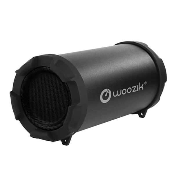 WOOZIK Rockit Go Bluetooth Speaker FM Radio, Micro SD Card, USB, AUX 3.5mm Support, and Strap In Black