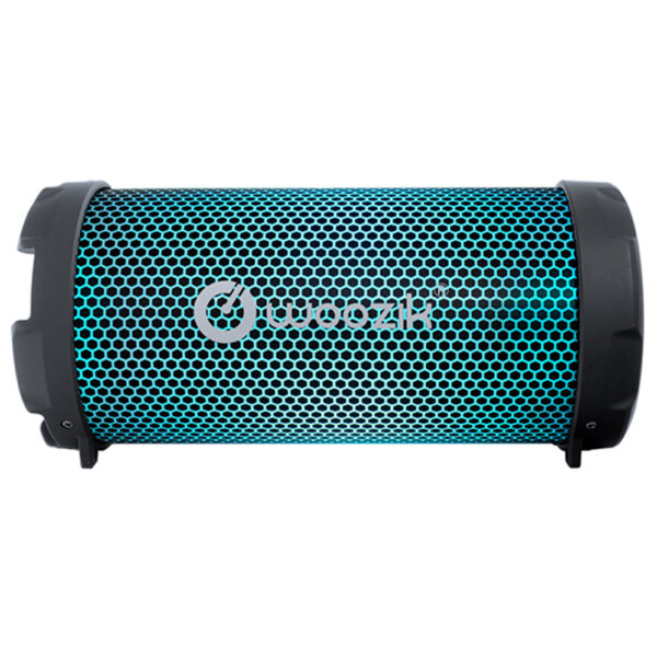Woozik Rockit Go LED (S213) Portable Bluetooth with LED Lights, FM Radio, SD Card, AUX 3.5mm (Black)