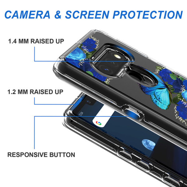 Pressed dried flower Design Phone case for LG Stylo 6 In Blue