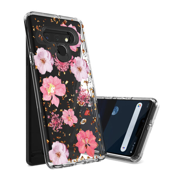 Pressed dried flower Design Phone case for LG Stylo 6 in Pink