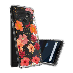 Pressed dried flower Design Phone case for LG Stylo 6 in Red