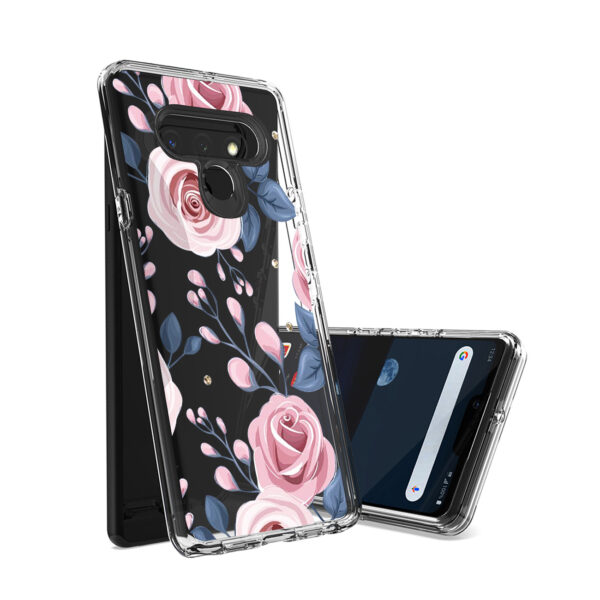 Pressed dried flower Design Phone case for LG Stylo 6 In Rose Gold
