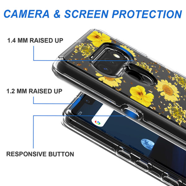 Pressed dried flower Design Phone case for LG Stylo 6 in Yellow