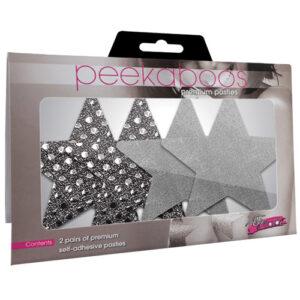 peekaboos Dark Angel Stars - Silver Pack of 2 PK001S