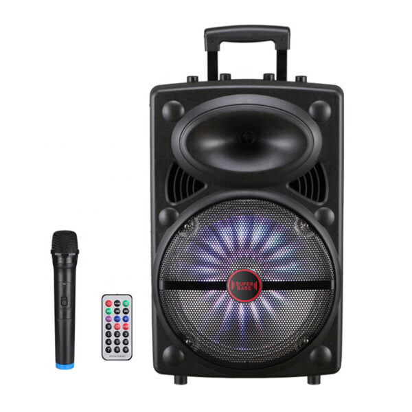 "12"" Speaker with Charger Line, Wireless Mic and Remote (LT-1203)"