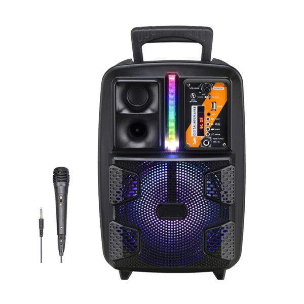 "8"" Speaker with Charger Line and Wired Mic (PK-16)"