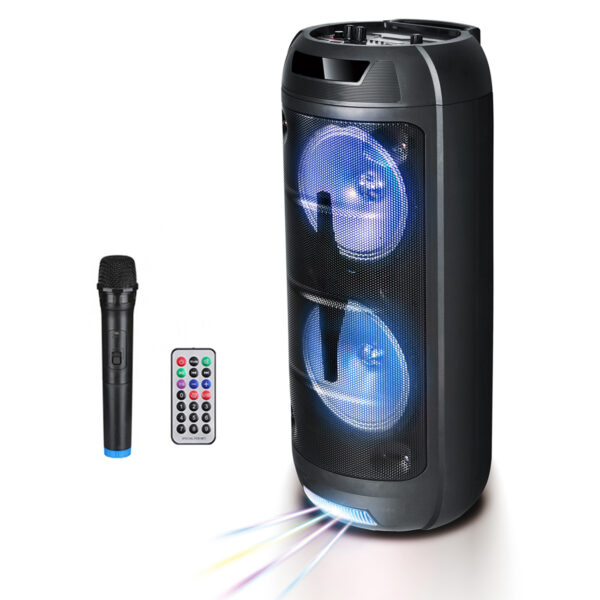 """8"""" Speaker with Charger Line, Wireless Mic and Remote (LT-2806XBT)"""
