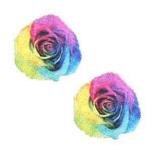 Neva Nude Pasty Rainbow Pride Rose Glitter Velvet
