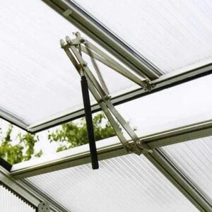 Exaco Auto RIGA Automatic Window Opener with Quick Release arm Greenhouse Cold Frame, Silver