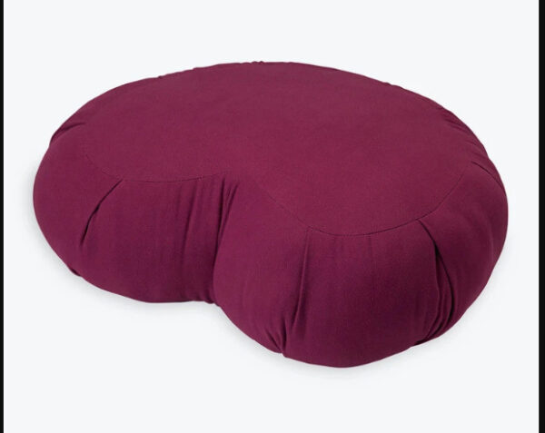 PREMIUM ZAFU CRESCENT MEDITATION CUSHION BURGUNDY