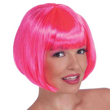 Wig Neon Pink Bob