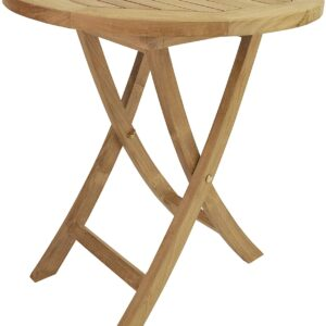 Anderson Teak 27 inch Bistro Bahama Round Folding Table, 27-Inch
