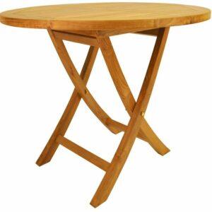 "Anderson Teak Bahama Round Bistro Folding Table, 35"""
