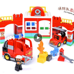 Large Size Quarters Fire Department Firemen Diy Building Blocks, Kids Bricks, Toys Compatible Toys for Children Kids Gifts