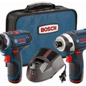 Bosch CLPK27120RT 12V Max Cordless Lithium-Ion Drill Driver and Impact Driver Combo Kit (Renewed)