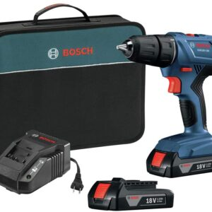 Bosch GSR18V-190B22-RT 18V Lithium-Ion Compact 1/2 in. Cordless Drill Driver Kit