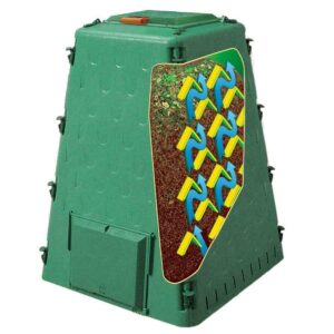 Exaco AeroQuick Compost Bin Polyamide Nylon Cover Weatherproof 4-Panels Green