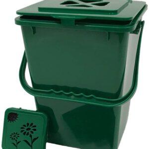 Exaco ECO 2000 Kitchen Compost Pail, 2.4 Gallon, Basic Green