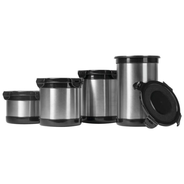 Wyndham House 4 piece (2,3,4 & 5 Cup) Stainless Steel Storage Containers
