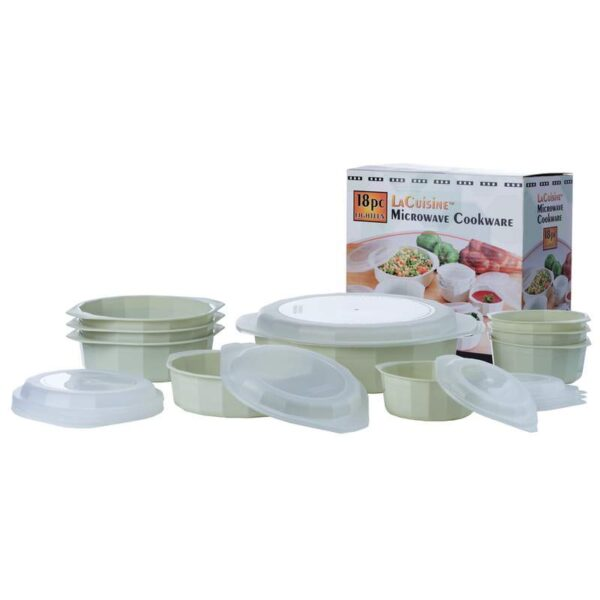 LaCuisine™ 18 piece Microwave Cookware Set