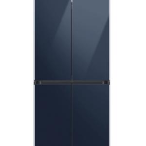 Samsung 29 cu. ft. Smart BESPOKE 4-Door Flex™ Refrigerator with Customizable Panel Colors in Navy Glass